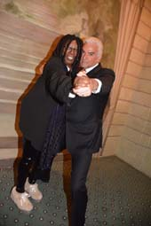 Whoopi Goldberg and John O' Hurley.  Photo by:  Rose Billings/Blacktiemagazine.com