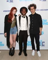 ASTR (pictured with VH1 Save The Music�s Trell Thomas, middle) headlined VH1 Save The Music Foundation�s inaugural Snowcoming gala at the New York Public Library on December 4, 2015.