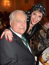 Robert Osborne and Liliane Montevecchi.  Photo by:  Rose Billings/Blacktiemagazine.com