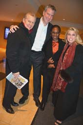 Tomaczek Bednarek, Mayor Bill de Blasio, Chirlane McCray, and Rita Cosby .  Photo by:  Rose Billings/Blacktiemagazine.com