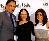 Ackerman Leadership Award Honoree Jimmy Smits, Lois Braverman, President & CEO, Ackerman Institute for the Family and Gala Host Tamsen Fadal