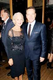 Helen Mirren, Brian Cranston Photo by: Marion Curtis/StartraksPhoto.com