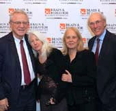 Dr. Herbert Pardes, Dr. Nancy Wexler, Dr. Mryrna Weissman and James Freudenthal.  Photo by:  Chad David Kraus