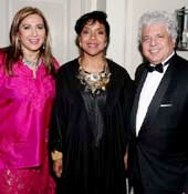 Meera Gandhi, Founder and CEO of The Giving Back Foundation, GBF 2015 Honoree Phylicia Rashad, and GBF 2015 Honoree Suhel Seth. Photo credit: Snaps India