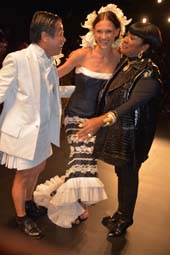 Zang Toi, Model and Patti La Belle .  Photo by:  Rose Billings/Blacktiemagazine.com