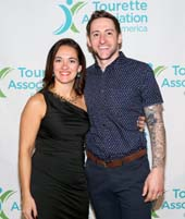 President and CEO of the Tourette Association of America Amanda Talty and America�s Got Talent Finalist and Comedian Samuel Comroe. Photo by:  Michael Priest Photography
