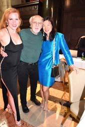 Quinn Lemley, star of Burlesque and Broadway, Peter Yarrow of Peter Paul and Mary and Audrey Wu, artist and Vice President of the Board, Lifeforce in Later Years at the LiLY Gala at Columbia University.  Photo by:  Rose Billings/Blacktiemagazine.com