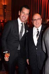 Greg Schriefer and Honoree Clive Davis. Photo by:  Rose Billings/Blacktiemagazine.com