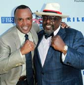Sugar Ray Leonard and Cedric the Entertainer. Photo  by:  Leon Bennett/Getty Images for Sugar Ray Leonard Foundation