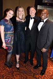 Siena Rumbough, Gala Co-Chairs, Leah Rumbough, Stanley Rumbough and Ty Jones. Photo by: Rose Billings/Blacktiemaagzine.com
