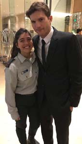Ashton Kutcher with Lt. Noam at the FIDF Western Region Gala - FIDF