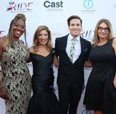Dr. Stephany Powell, Robyn Shreiber, Italo Elgueta, and Kay Buck seen at the RIDE Foundation Dance for Freedom Gala at The Broad Stage on Saturday, Sept. 29, 2018, in Santa Monica, Calif. (Photo by Blair Raughley/Invision for The RIDE Foundation/AP Images)