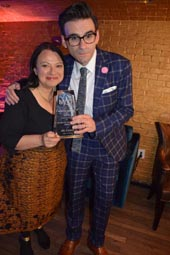 Julie Miller, Producer  and Joe Iconis, Board of Directors Award.  Photo by:  Rose Billlings/Blacktiemaagzine.com