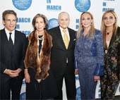 (Honoree Ben Stiller, Luncheon Co-Chairs Alice M Tisch and Ray Kelly, UNWFPA Board Members Barbara Winston and Michael Grayevsky)