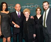 Daniela Lavender, Sir Ben Kingsley, Halina Silber, Mushka Efune and Dovid Efune.  Photo  by:  PMC/Sean Zanni