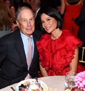 Michael Bloomberg & Lucy Liu