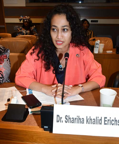 "Dr. Shariha Khalid Erichsen, Managing Partner, Mission & Co; member, Global Council 3, SDGs in Action; and co-founder, ""Health in Your Hands Initiative"""