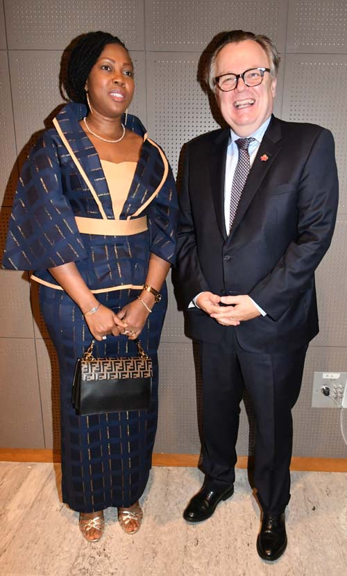 The First Lady of Sierra Leone with HE Marc-André Blanchard, Ambassador of Canada to the UN