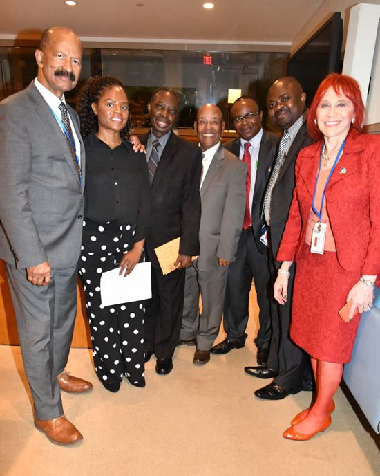 The Ebola Coalition:  Chair Gordon Tapper, President, United African Congress (UAC); Communications Chair and NY liaison Friends of the Congo Bibi Ndala; the UAC's Dr. Michael Cole and Dr. Mohammed Nurhussein; HaltEbola's Pastor Dr. Kaserka Kasomo; Jacques Vithi; and Dr. Judy Kuriansky