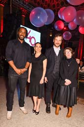 Artist honorees Rashid Johnson, Teresita Fern?dez, Marcel Dzama, and R.H. Quaytman at The Drawing Center?s 40th Anniversary Gala (courtesy of Hunter Abrams/BFA.com