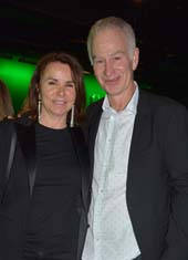 John McEnroe and his lovely wife Patty Smyth.  Photo by:  Rose Billings/Blacktiemagazine.com