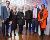 Christopher d'Amboise, NYFA Board Chair Judith K. Brodsky, Ida Applebroog, Peggy Cooper Cafritz, NYFA Executive Director Michael L. Royce, and Lynn Nottage