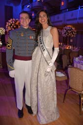 Pierce Freeman and Miss Teen USA Katherine Haik .  Photo by:  Rose Billings/Blacktiemagazine.com