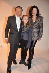 Zang Toi and dancer, actress in Flesh & Bones Irina Dvorovenko  and her daughter.  Photo by:  Rose Billings/Blacktiemagazine.com
