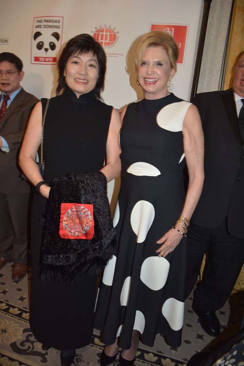 Ambassador Zhang Qiyue and Hon. Carolyn B. Maloney.  Photo by:  Rose Billings/Blacktiemagazine.com