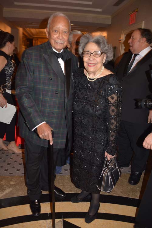 Former Mayor David Dinkins and his lovely wife Joyce Dinkins.  Photo by: Rose Billings/Blacktiemagazine.com