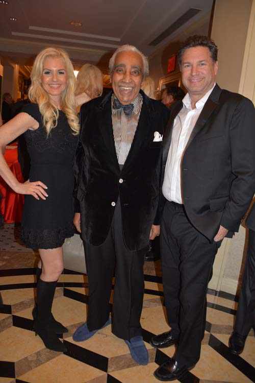Melissa kassis, Charlie Rangel and Michael Travin.  Photo by:  Rose Billings/Blacktiemagazine.com
