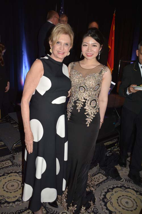 The Hon. Carolyn B. Maloney and Karen Tan.  Photo by:  Rose Billings/Blacktiemagazine.com
