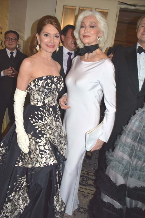 Jean Shafiroff and Carmen Dell'Orefice.  Photo by:  Rose Billings/Blacktiemagazine.com