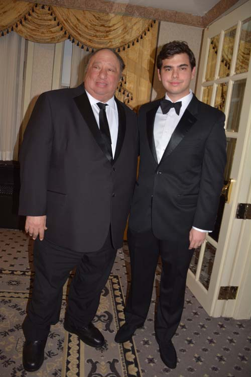 John Catsimatidis with his handsome son John .  Photo by:  Rose Billings/Blacktiemagazine.com