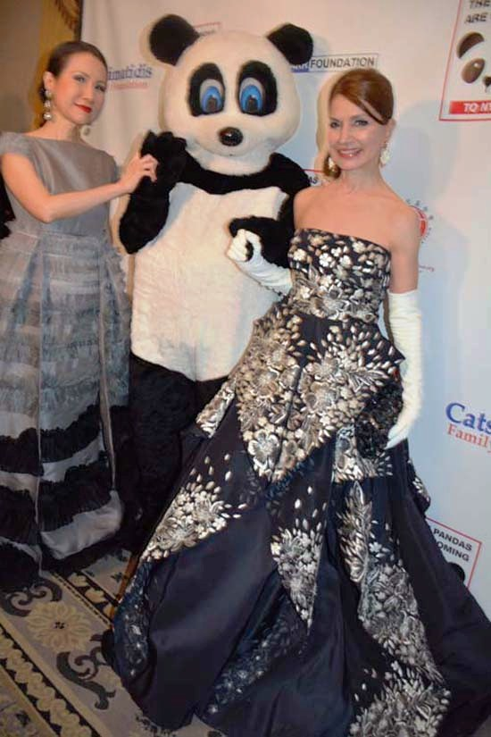 Chiu-Ti Jansen and Jean Shafiroff with Chinese Panda.  Photo by:  Rose Billings/Blacktiemagazine.com