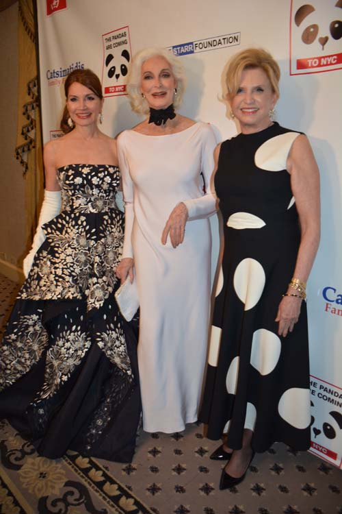 Jean Shafiroff and Carmen Dell'Orefice and The Hon. Carolyn B. Maloney.  Photo by:  Rose Billings/Blacktiemagazine.com