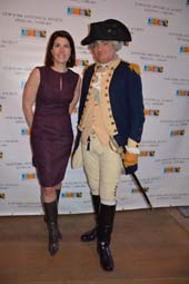 Diana DiMenna and George Washington (Michael Grillo).  Photo by:  Rose Billings/Blacktiemagazine.com