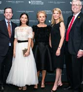 Dr. Cam Patterson, Lucy Liu, Carolina Herrera, Dr. Laura Forese, Dr. Gerald Loughlin.  Photo by:  4 Eyes Photography / Kellie Walsh