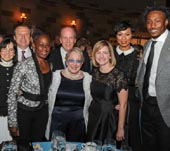 Kimberly Williams, President of the MHA-NYC with the 2017 MHA-NYC Gala honorees: Chirlane McCray, First Lady of New York City; Brandon & Michi Marshall and the Zirinsky Family.Photo by Sean Sime