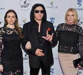 Daughter Sophie Simmons, Gene Simmons and wife Shannon Tweed