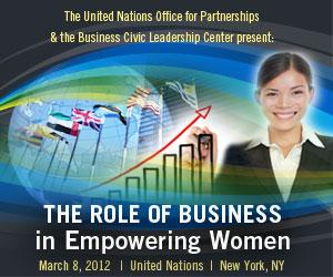 the role of women in business Today, you will discuss the business community's vital interests in sustainable  practices and operations and the role of women in making these.
