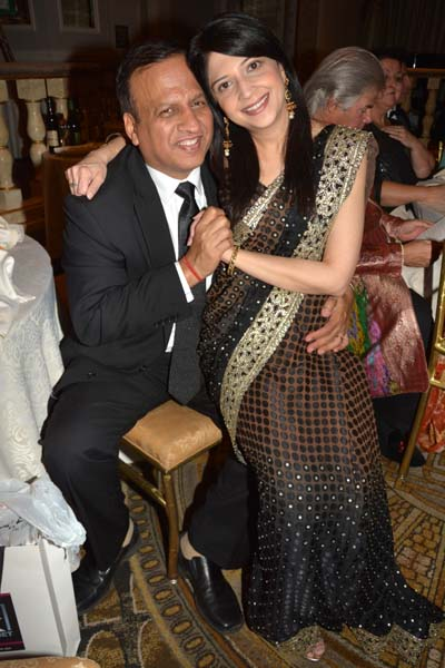 Sandeep Mathur and Nisha Mathur. Photo by: Rose Billings/Blacktiemagazine.com