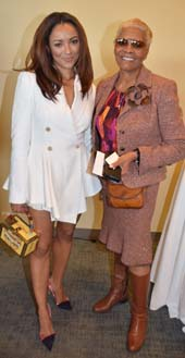 Kat Graham (Vampire Diaries) and Dionne Warwick .  Photo by:  Rose Billings/Blacktiemagazine.com
