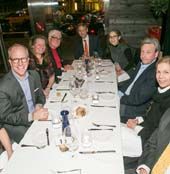 Melissa Kaish, Peter Manning, Paula Hornbostel, Frank Platt, Nick Potter, Lorraine Weinberg, Jonathan Dorfman, Lee Potter, John Hornbostel.  Photo courtesy of Poet's House
