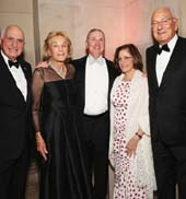 Ken Langone, Elaine Langone, Robert I. Grossman, Elisabeth Cohen and Paolo Fresco attend NYU Langone Medical Center's 2016 Violet Ball at the Metropolitan Museum of Art on May 16, 2016 in New York City. (Photo by Monica Schipper/Getty Images for NYU Langone Medical Center