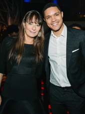 Deborah Bial, president and founder of The Posse Foundation, with Trevor Noah, comedian, actor and host, The Daily Show, pose together at The Posse Foundation�s 2016 Spring Gala, entitled �An Evening of Stars,� on Wednesday, May 25 at Cipriani Wall Street.Photo by:  Sheila Griffin