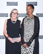 Alice Walton and Wangechi Mutu. Photo: © Kelly Taub/BFA.com