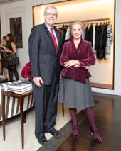 Dr. Gerald Loughlin, Carolina Herrera. Photo by:  Benjamin Lozovsky/BFA.com