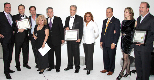 AWARD CEREMONY Gerard Mckeon Publisher of Black Tie International Magazine, Awardee Dr. Robert Korwin, Philippe Reynaud President & Founder Union Square Studio, Roberto Rizzo CEO & Founder New York Film Festival, Awardee Award Winning Producer, Director & Writer Dean Love, Vivian Colon Director of Sales Candlewood Suites ( Representing Meadowlands Liberty Convention Visitors Bureau),