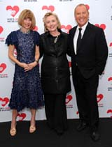 Anna Wintour, Hillary Rodham Clinton, and Michael Kors attend God�s Love We Deliver�s Seventh Annual Golden Heart Awards on Wednesday, October 16, 2013 at Spring Studios in Manhattan.